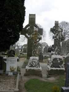 Ein Blick auf den Friedhof von Monasterboyce