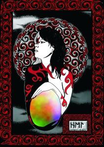 Hel, Göttin der Unterwelt, Illustration von Curtis Nike
