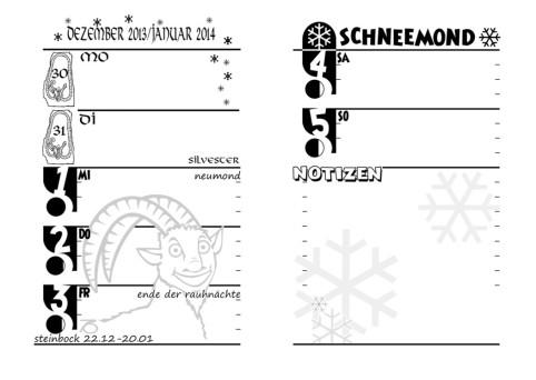 Übergang Dezember 2013 - Januar 2014, designt von Exo (Januar) und Curtis Nike (Dezember)