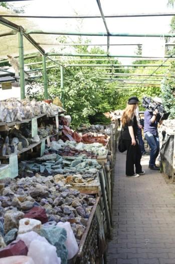 Edelsteine über Edelstein... der Markt der Kristalle.