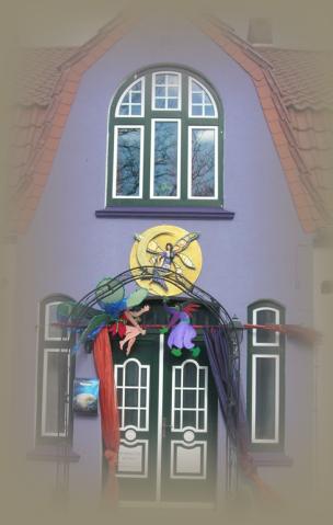 Der Zugang zur Sternschnuppe - eindeutig ein Hexenhaus!