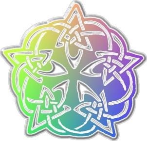 Keltisches Knotenpentagramm