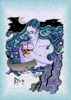 In der nordischen Mythologie ist die Göttin Ran für das Reich der Ertrunkenen zuständig. Ihre Kinder sind die Wellen. Sie können zuweilen die Seefahrer in die Tiefe reißen.