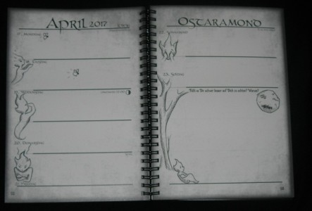 So kann es im Inneren des Kalenders aussehen... kann! Denn jede Doppelseite ist absolut einzigartig gestaltet!